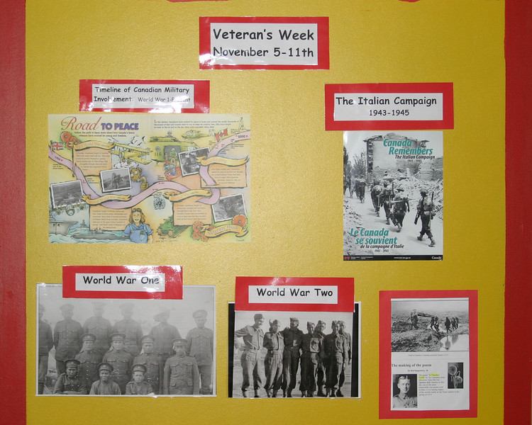 Bishop Belleau School Veteran's Week Display 2004 November 20