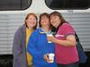 Phemie, Doris  and Jackie Linklater at Moosonee train station 2005 September 13