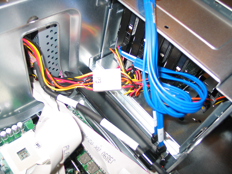 Replacement of motherboard in Dell PE1800 server.