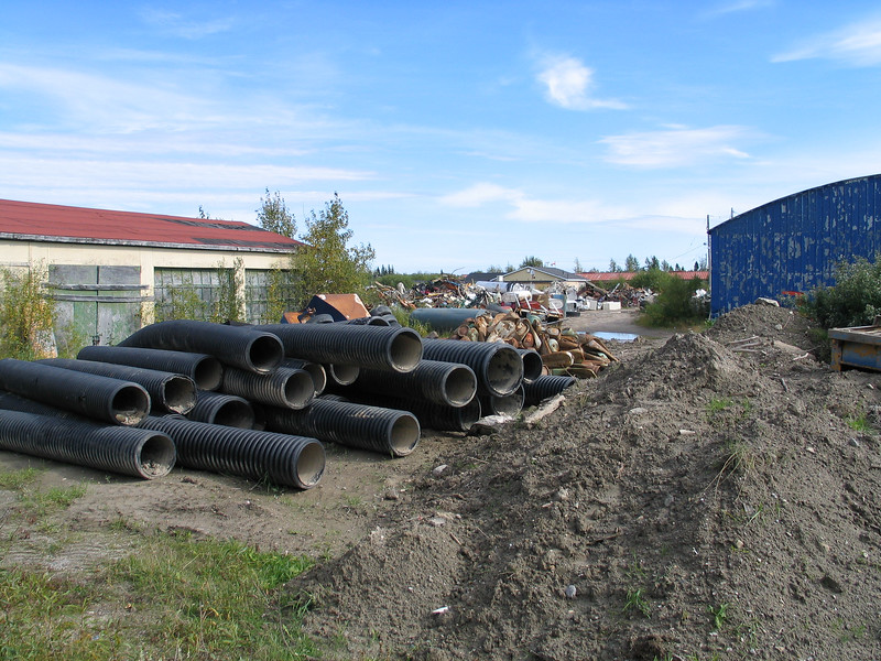 Culverts behind public works building at the base. 2004 September 19