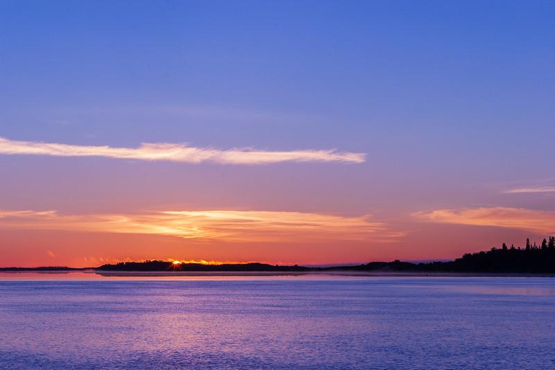 Sunrise across the Moose River 2005 August 8