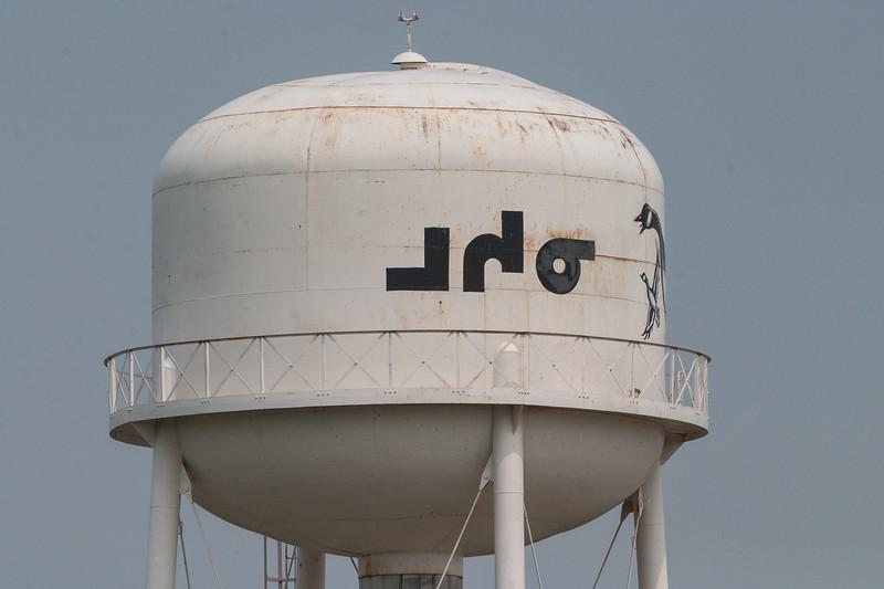 Moosonee written in syllabics on water tower.