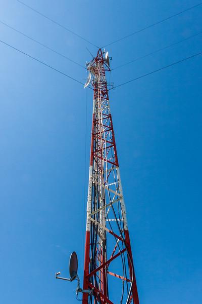 Top of the microwave tower in Moosonee 2005 June 26. Reprocessed 2019 June 27