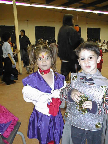 David Hunter with Meghan Rogers at Hallowe'en Party 1998 October 31.
