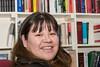 Bertha Linklater in library at Keewaytinok Native Legal Services 2005 November 29th.