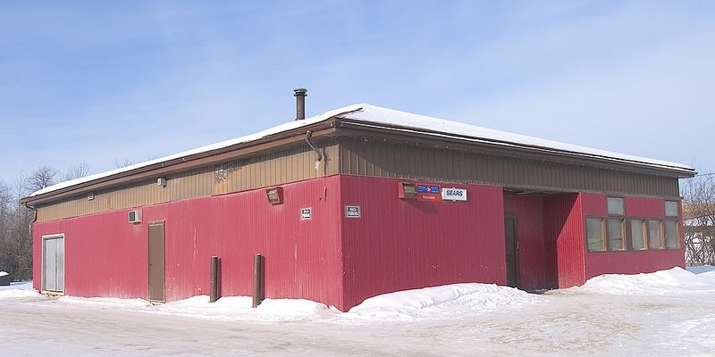 Moosonee Post Office<br /> Canada Post handles catalog orders for Sears.