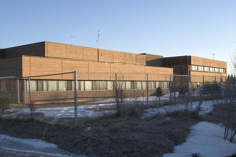 Northern Lights Secondary School, Moosonee, Ontario<br /> view from east<br /> This school incorporates parts of the former Henry Hudson School that was part of Canadian Forces Station Moosonee.