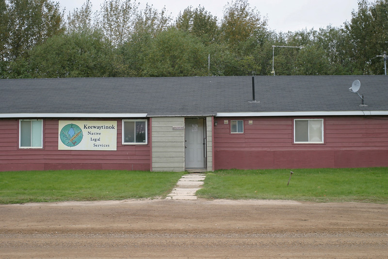 Centre portion of front of Keewaytinok Native Legal Services 2004 September 28