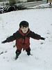 David jumping in snow May 19, 1999
