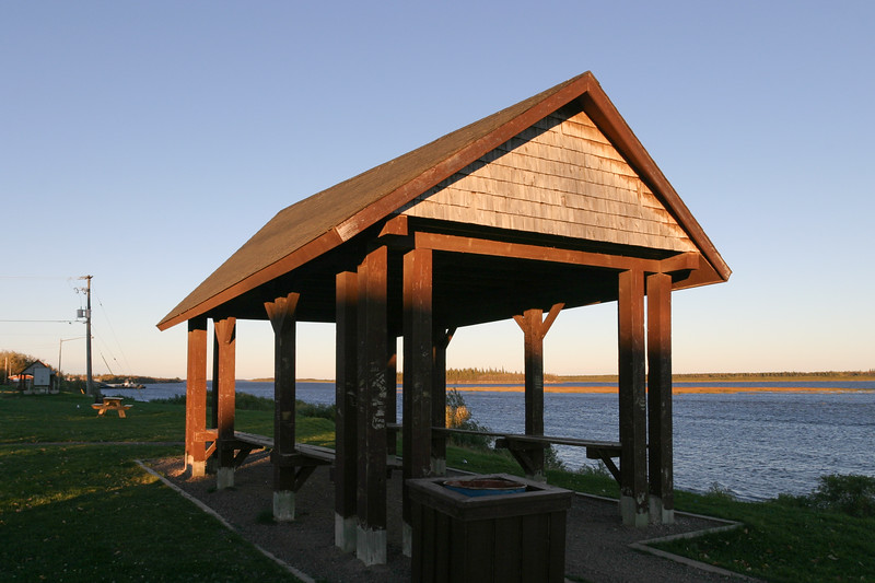 2004 September 28 shelter above the Moose River up river from public docks.