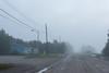 Revillon Road in Moosonee on a foggy morning. 2006 September 19th
