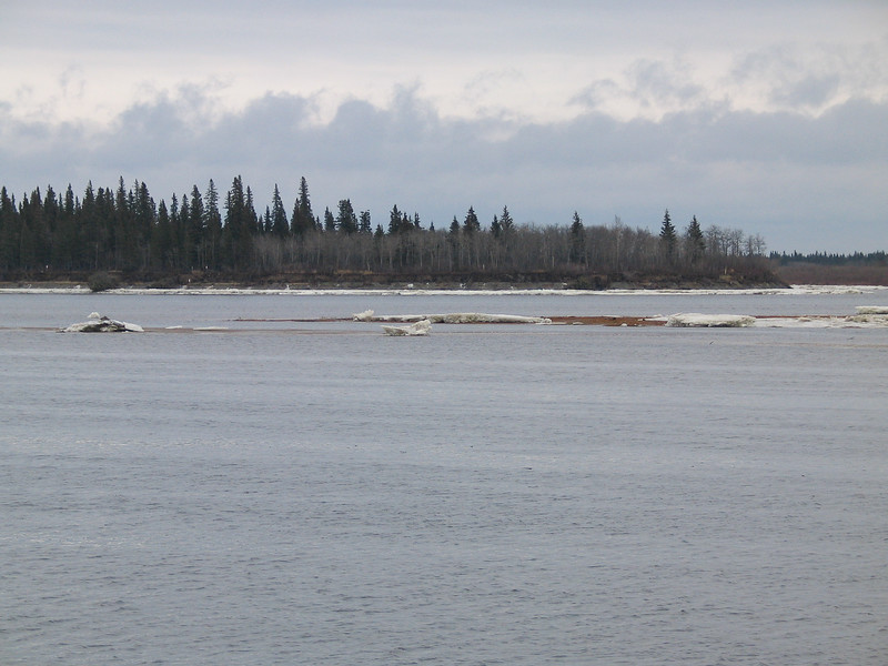 Ice on sandbar and along Butler Island shoreline. 2003 November 19th.