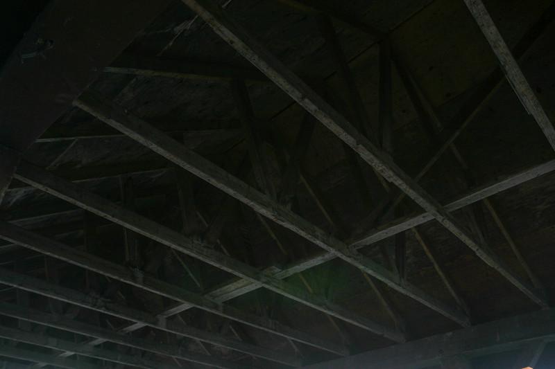 2004 September 28 trusses inside roof of shelter along the Moose River