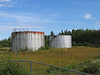 Fuel tanks at former base in Moosonee. 2004 September 19