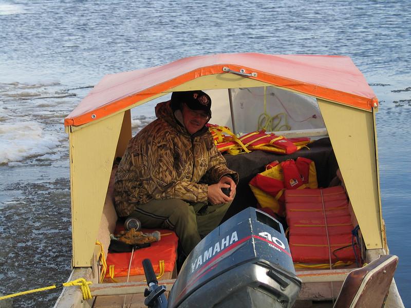 Taxi boat at public docks site 2003 November 22nd. Leo Etherington.