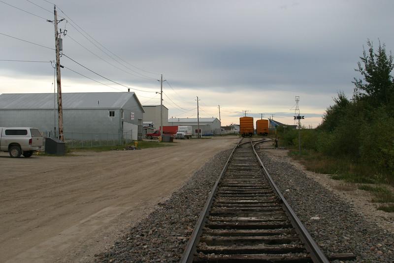 Tracks at Moosonee Airport 2004 September 26