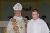 Bishop Cadieux with Dorian Girard 2005 May 29