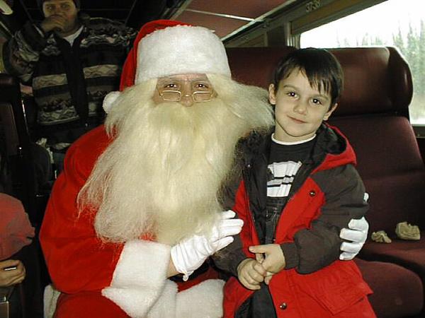 Santa Train David with Santa Nov 29 1998