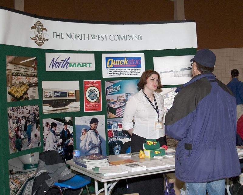 2005 February 16th Northern Stores (Northwest Company) at Career Fair in Moose Factory.