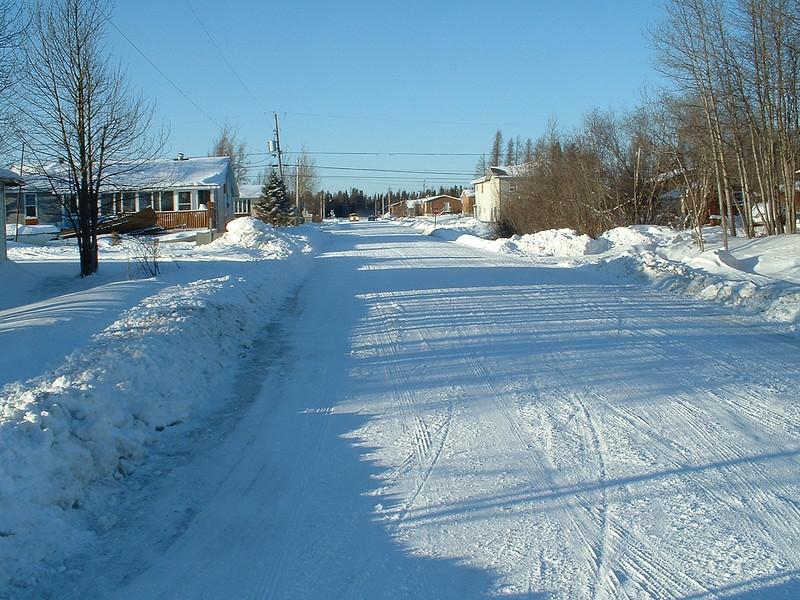 Fourth street looking towards the tracks 2004 January 4