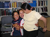 Tori, Heather and Mary Nootchtai in library 2004 July 14