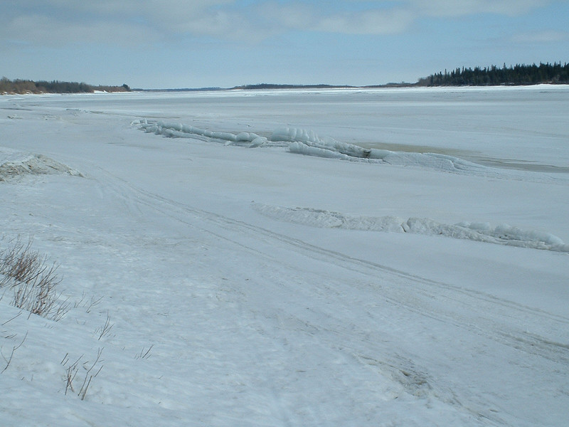Looking down the Moose River 2003 April 15th.
