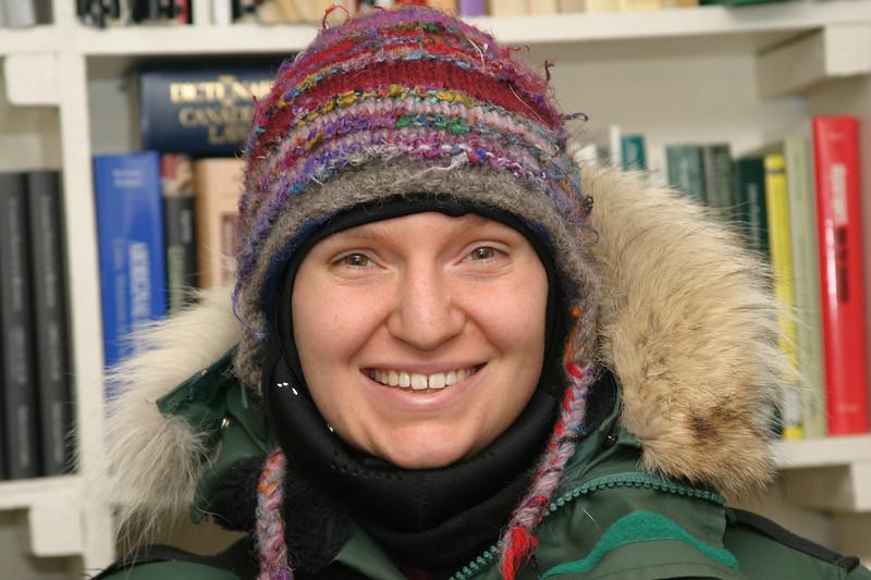 Carole Ferrari in Moosonee. 2005 January 2