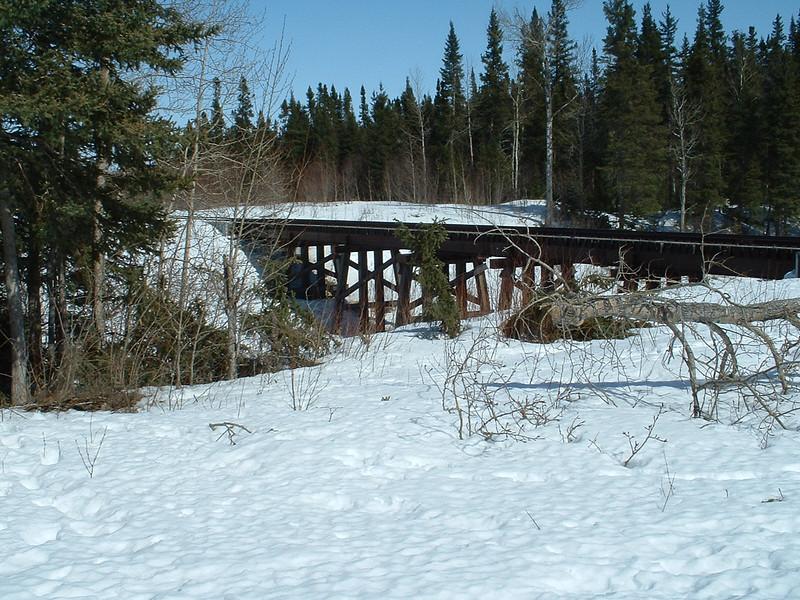 Railway bridge over Butler Creek 2003 April 12th.