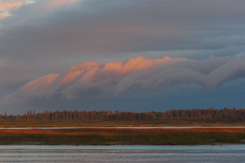 Clouds across the Moose River 2005 September 1 751 pm.