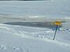 Tidemark along the edge of the ice 2004 January 4