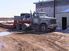 Float trailer and truck at the base 2003 April 14