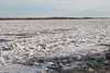 Looking across the broken ice of the Moose River at Moosonee. 2005 April 18