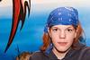 Kayla Kasprick student running gingerbreadhouse draw at Christmas Bazaar 2005 November 19