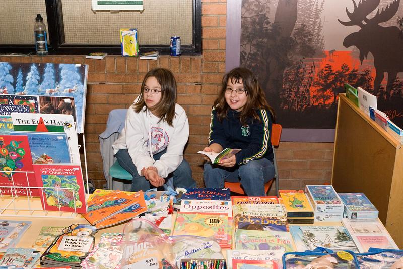 Selling children's books at Christmas Bazaar. 2005 November 19.