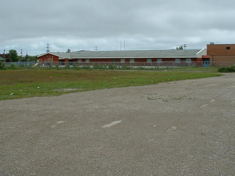 Bishop Belleau Separate School from the back.