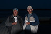 Taxi boat drivers Tom Hookimaw and John M. Rickard enjoy coffee at public docks. 2005 May 25