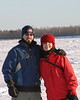 Clint Hamilton and Sam Mullins. 2005 January 8 on the frozen Moose River