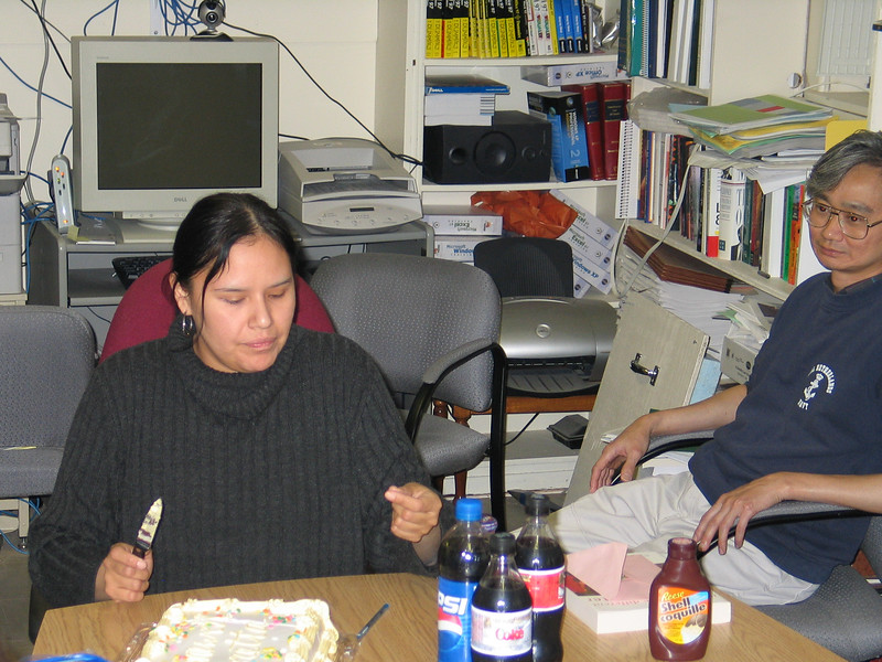 Party for Loretta Loon at Keewaytinok Native Legal Services 2004 July 14 - with Fintan Lee