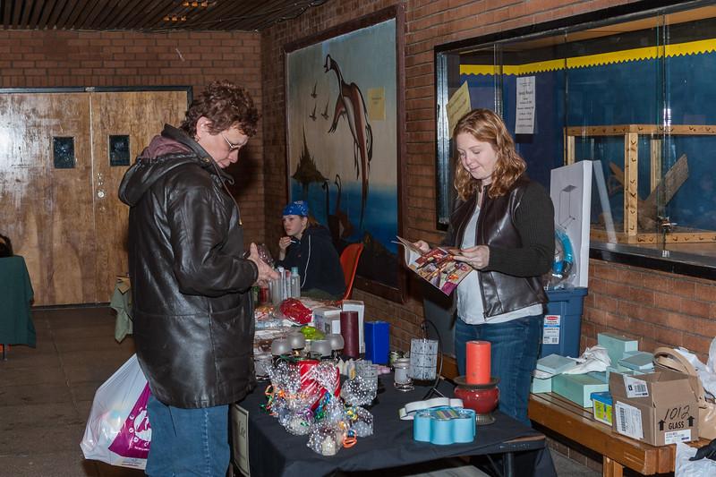 Coleen Maquire at Christmas Bazaar.
