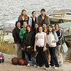 Girl's basketball team at public docks in Moosonee 2006 September 28th.