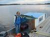 Dana Milne in a taxi boat 2004 October 20