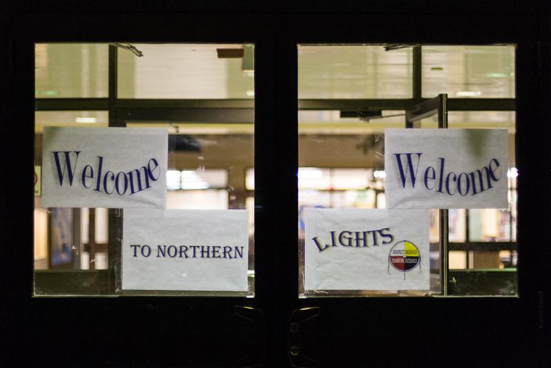 Front door Northern Lights Secondary School 2005 October 5
