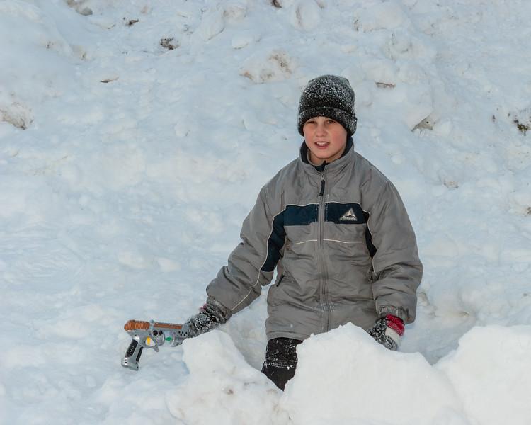 David Hunter in snow 2005 November 26.
