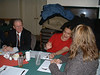 Brad Sloan, Mary Blueboy and Trina Hookimaw at legal aid meeting at Sky Ranch. December 2004.