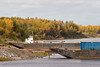 Barges at anchor in Moosonee including 1002 (foreground) and Manitou Island II (background). 2006 September 27th.