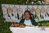 Laura Smallboy selling crafts 2004 July 18