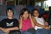 David Hunter with Tori and Morgan Hunter on train 2004 August 7