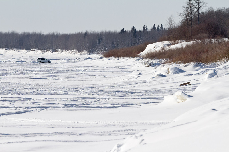Looking up the Moose River 2011 January 29.