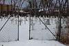 Christ the King cemetery in Moosonee. Gates were installed to prevent horses from entering.