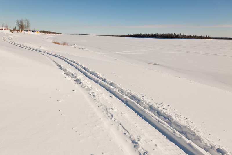 Looking across the Moose River towards Butler Island 2011 January 18th